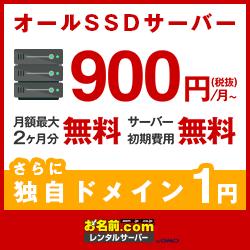 お名前.comのレンタルサーバーは抜群のコストパフォーマンス 月額900円から利用可能!